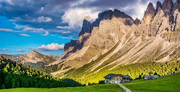 Rifugio in the Dolomite Mountains